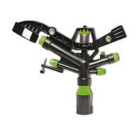 Импульсный ороситель для полива газона 6010 Presto-PS, пластиковый, 5 форсунок, орошение на 28-36м