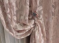Тюль Турция  (занавес, гардина) ажурная тюль , цвет пепел розы