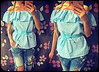 """Блуза """"Прошва"""" с поясом"""