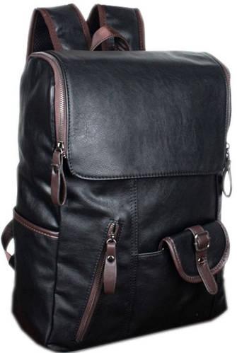 Молодежный рюкзак из искусственной кожи 14 л. Traum 7050-37, черный
