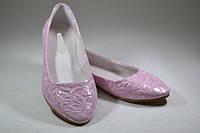 Балетки женские натуральная кожа  розовые цветы размеры 36 37 38 39 40