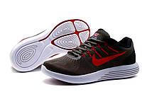 Кроссовки Nike Lunarglide 8, мужские, темно-серые, р. 41 42, фото 1