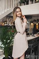 Платье-рубашка + пояс TM B&H.Материал: лён.Размеры: С-М, М-Л.Цвет: бежевый, синий.AA 039