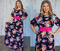 Платье из штапеля в пол батал