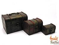 Набор старинный сундуков из дерева
