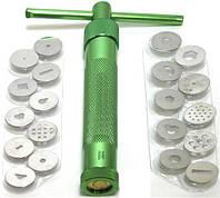 Экструдер профессиональный винтовой для полимерной глины,мастики+20 насадок (не шприц), фото 1