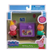 Набор игровой Свинка Пеппа и кошечка Кэнди День рождения  Peppa & Candy Cat Birthday Party