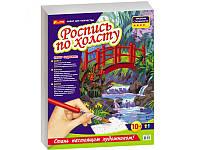 """Раскраска по номерам на полотне Ranok Creative """"Мостик в саду"""""""