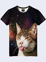 Мужская футболка Кот с языком