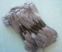 Нитки мулине хлопчатобумажные цвет серый BIS-mk-1 /58-1