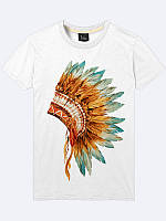 Мужская футболка Головной убор индейца