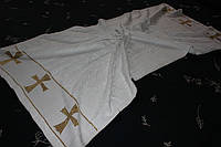 Крыжма из махры с вышивкой