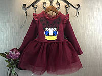 Детское теплое платье с Дейзи Дак