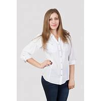 Классическая женская блуза белого цвета