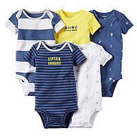 Боди с коротким рукавом для малышей Набор 5 шт. Carter's (США)