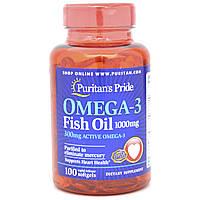 "Рыбий жир Omega-3 Fish Oil ""PURITAN'S PRIDE""  100 caps"