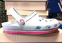 Crocs Duet Sport Clog New Light Blue Pink 2 женские оригинал