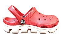 Crocs Duet Sport Clog Red White женские оригинал