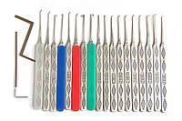 Набор отмычек ручной работы с высококачественной стали (HUK), 18шт.