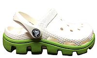 Crocs Classic Cayman White Green детские оригинал