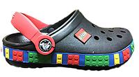 Crocs Crocband Lego Black детские оригинал