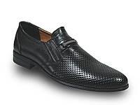 Кожаные туфли в дырочку с пряжкой