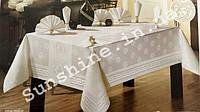 Скатерть Armina Турция 160х220 + 8 салфеток с держателями Versace