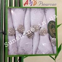 8 салфеток бамбук AND Panarcan Турция с держателями/кольцами (Версачо, кольца, сердца)