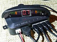 Парктроник 4 датчика LED дисплей парковочный радар. Датчики d=22 мм датчики черные