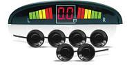 Парктроник 6 датчиков LED дисплей парковочный радар. Датчики d=22 мм датчики черные