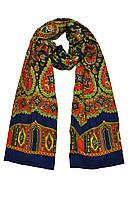 Молодежный шарф цвета индиго
