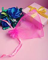 Мешочек из органзы /размер 10х12 см./ упаковка подарков/ цвет розовый