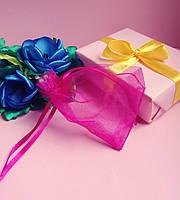 Мешочек из органзы /размер 7х9 см./ упаковка подарков/ цвет розовый