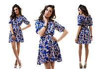 Женское платье из атласа в 5 расцветках , фото 1