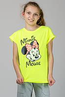 Детская футболка из турецкого трикотажа для девочки Маус