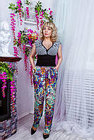 Женские брюки из штапеля №1530 (цветные)