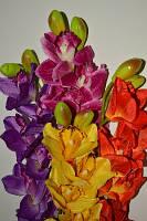 """Искусственные цветы """"Ирисы"""" 8 цветков"""