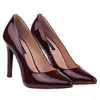 Женские туфли Kadandier (лаковые, бордовые, классические, на высоком каблуке, шпильке)