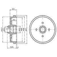 S70226 = DB4081 = JR 329128 Тормозной барабан SAMKO