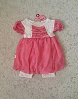 Комплект летний на девочку Платье с короткими лосинами