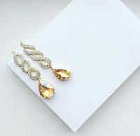 Серьги женские Утопия золотые , купить сережки