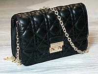 Женская сумка Dior черная, сумка через плечо