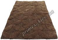 """Индийский коврик ручной работы для ванной """"Стежок"""", цвет - коричневый"""
