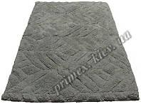 """Индийский коврик ручной работы для ванной """"Дайм"""", цвет - серый"""