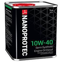 Полусинтетическое моторное масло NANOPROTEC DIESEL ENGINE OIL 10W40  1L
