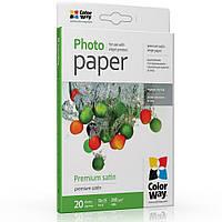 Бумага сатин микропористый 260г/м2, 10х15 CW