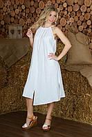 Женский модный летний льняной сарафан свободного кроя | Все размеры