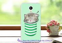 Силиконовый чехол для Meizu M2 / M2 mini с картинкой кот в кармане