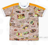 Хлопковая футболка для мальчика размер 92,110,116