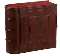 Книга-бар с графином и 6 рюмок (натуральная кожа)м
